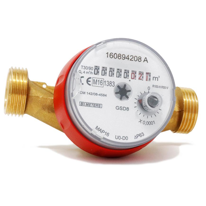componenti condominio102 Contatore d'acqua a getto singolo GSD8-RFM